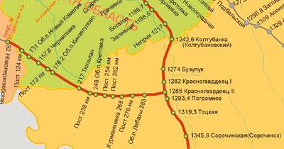 Схема станции пугачевск